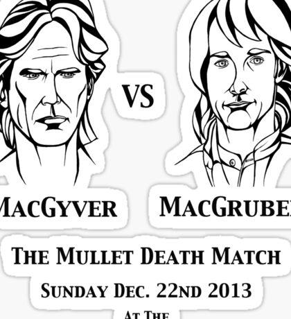 MacGyver VS MacGruber Sticker