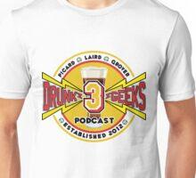 3 Drunk Geeks Logo: Light Unisex T-Shirt