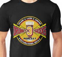 3 Drunk Geeks Logo: Dark Unisex T-Shirt