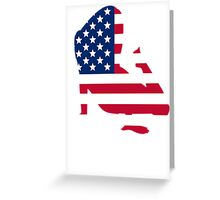 Sexy American Silhouette Greeting Card