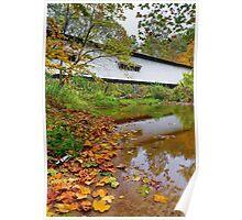 Portland Mills Covered Bridge in Autumn Poster