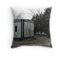 Lonely Mausoleum Throw Pillow