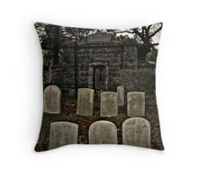 Mausoleum On The Hill, Sleepy Hollow Cemetery Throw Pillow