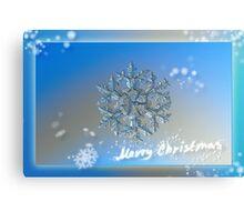 Snowflake Christmas card #2 Canvas Print