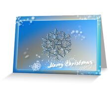 Snowflake Christmas card #2 Greeting Card