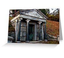 Rhinelander Mausoleum, Sleepy Hollow Cemetery Greeting Card