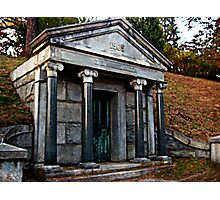 Rhinelander Mausoleum, Sleepy Hollow Cemetery Photographic Print