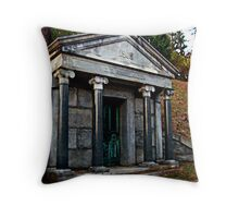Rhinelander Mausoleum, Sleepy Hollow Cemetery Throw Pillow