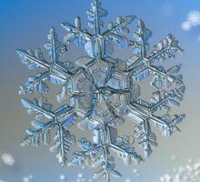Snowflake Christmas card #2 Sticker