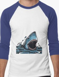 Shark Attack Men's Baseball ¾ T-Shirt