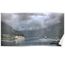 The MS. Albatros (3) = Under a Low Cloud Poster