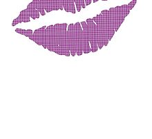 Purple Crosshatch Lips by kwg2200