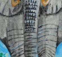Elephant Taxi Sticker