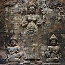 Cambodian brick wall by sumners