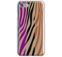 Animal Print Skin Zebra Retro Colorful Pattern 3 iPhone Case/Skin