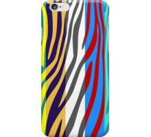 Animal Print Skin Zebra Retro Colorful Pattern 4 iPhone Case/Skin