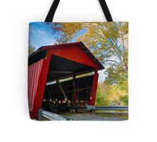 Red Covered Bridge and Giant Sycamore Tote Bag