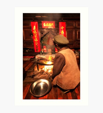 Chinese Cooking Art Print