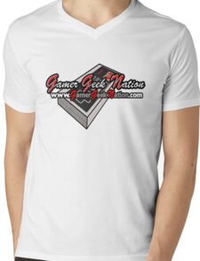 The Official Gamer Geek Nation Logo! Mens V-Neck T-Shirt