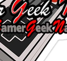 The Official Gamer Geek Nation Logo! Sticker