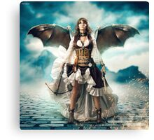 The Steampunk Warrior  Canvas Print