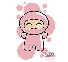 Pink Ninja Photographic Print