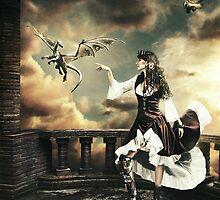 Steampunk Warrior and Little Miska by PavanKrushik