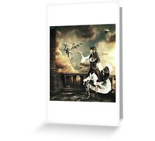 Steampunk Warrior and Little Miska Greeting Card