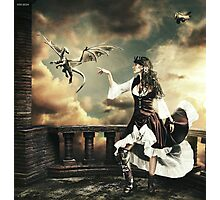 Steampunk Warrior and Little Miska Photographic Print