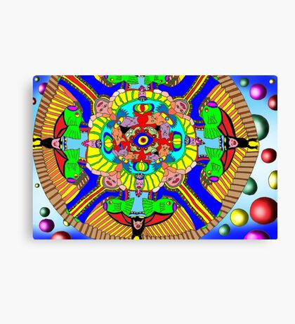 Mind map as a Mandala Canvas Print