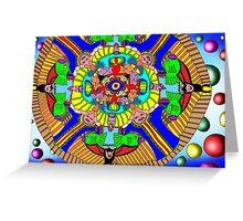 Mind map as a Mandala Greeting Card
