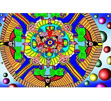 Mind map as a Mandala Photographic Print