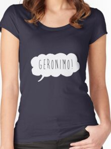 Geronimo! (White) Women's Fitted Scoop T-Shirt