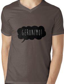 Geronimo! (Black) Mens V-Neck T-Shirt