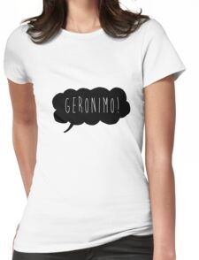 Geronimo! (Black) Womens Fitted T-Shirt