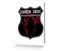 Guardin gnome Greeting Card