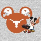 Texas Longhorns Mickey Mouse football fan by sweetsisters