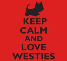 Keep Calm and Love Westies (black) Kids Clothes