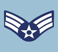US Airman Senior Class Three Stripes by retromoomin