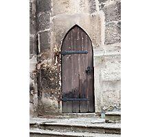 Gothic door. Photographic Print