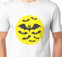 Halloween Bat Moon A Flock of Bats Unisex T-Shirt