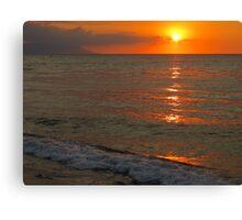 tropical sunset III - puesta del sol tropical Canvas Print