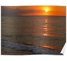 tropical sunset III - puesta del sol tropical Poster