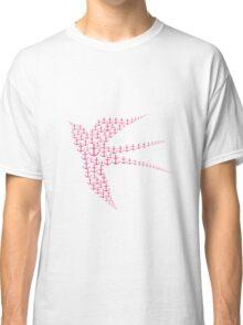 Swallows Bird Anchor Pink Symbol Classic T-Shirt