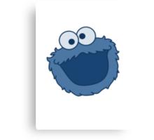 Cookie Monster T-shirt Sesame Street Canvas Print