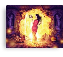 The Fire Witch  Canvas Print