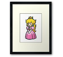 Princess Peach Nintendo T-shirt Framed Print