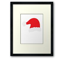 Christmas Father Santa Hat Red Framed Print