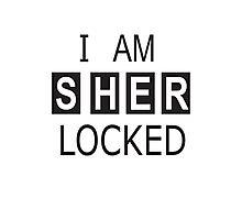 Sherlock Holmes SHERlocked Phone Locking Photographic Print