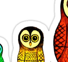 Babushka Owls (Colour) Sticker